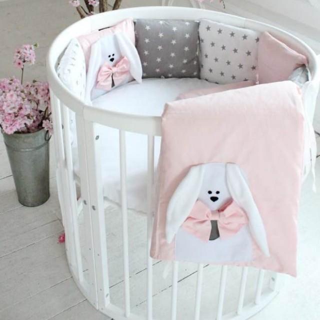 Бортики Добрые сны-зайка Розовый