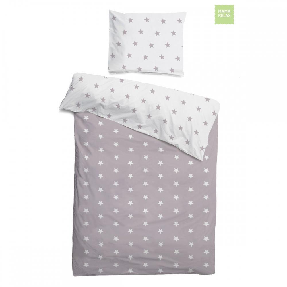 Комплект детского постельного белья звездочки на белом