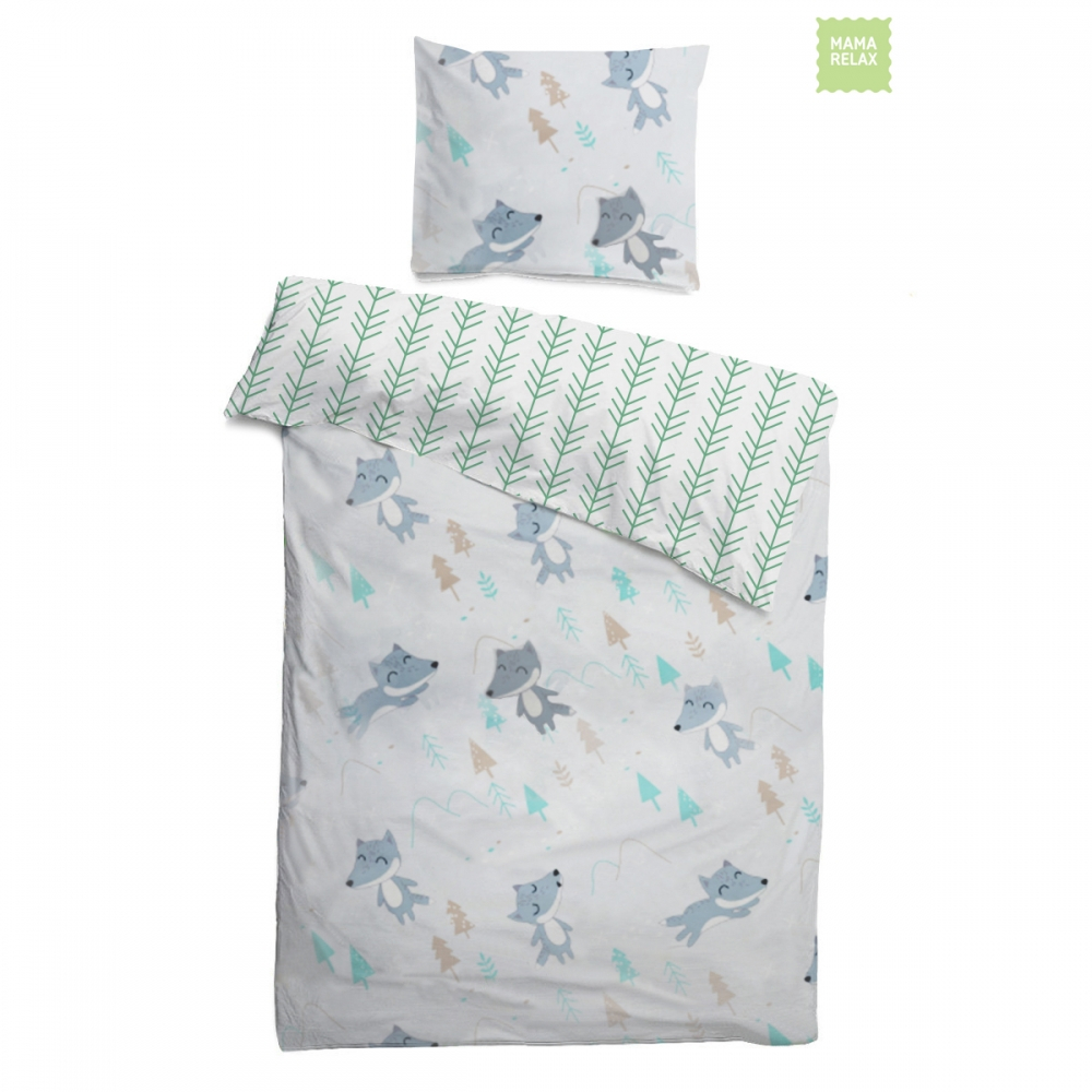 Детское постельное бельё 120х60 Лисички в лесу