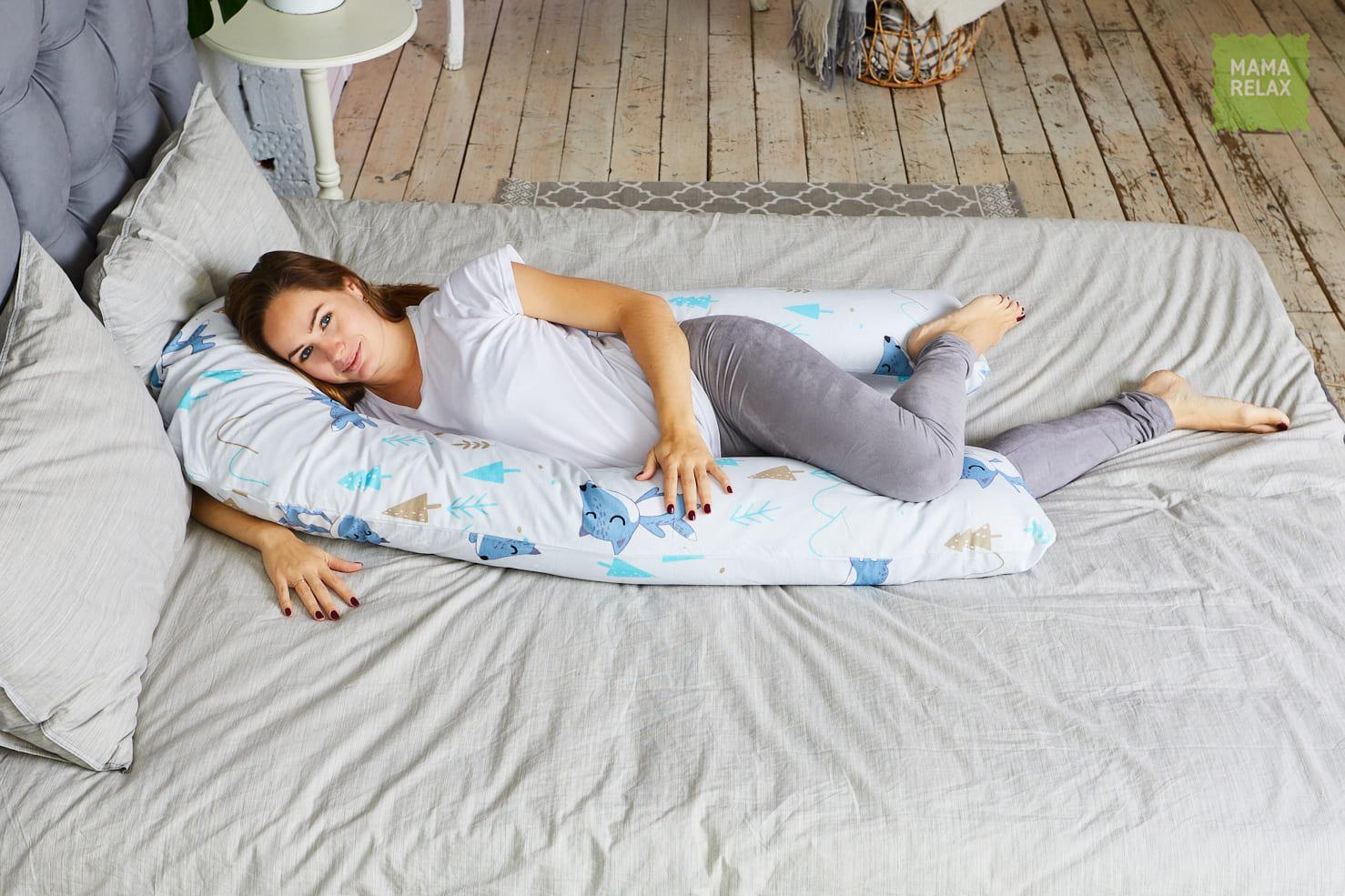 Подушка  для беременных U340 Лисички в лесу