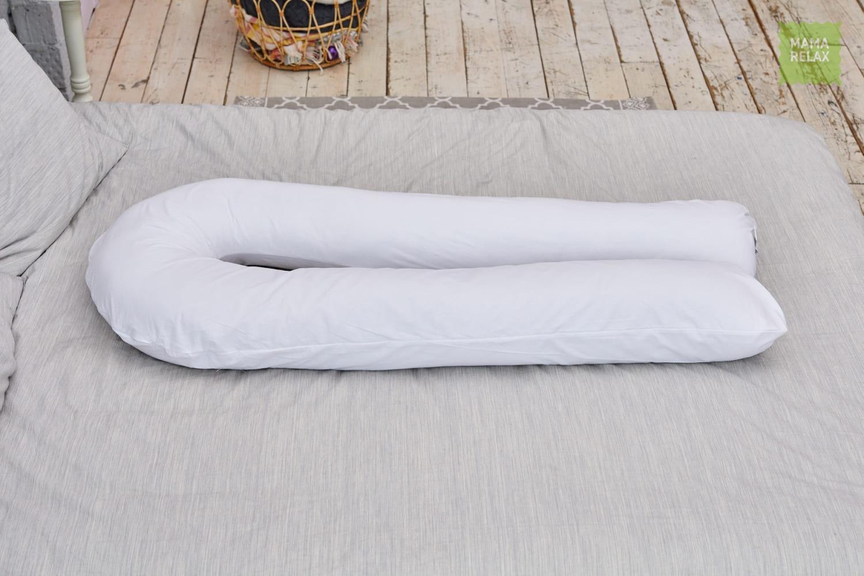 Подушка  для беременных U340 Нежно-белая