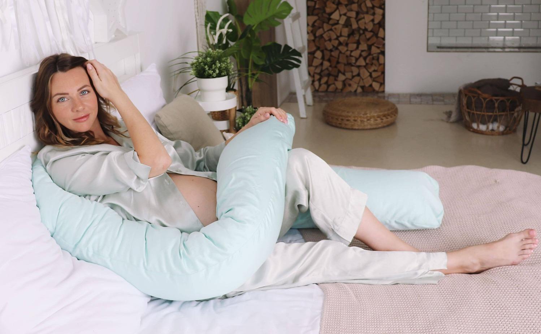 Подушка  для беременных U340 сатин Мята