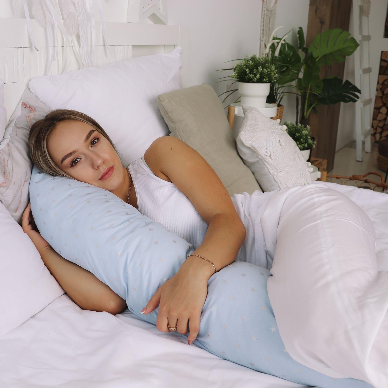 Подушка для беременных U280 Ззвездочка на голубом