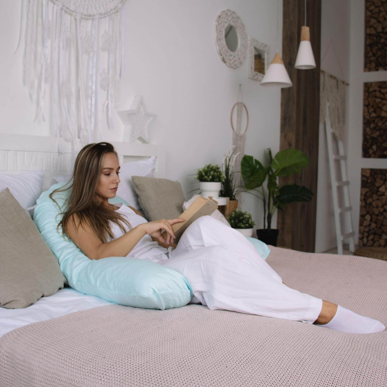 Подушка для беременных U280 сатин Мята