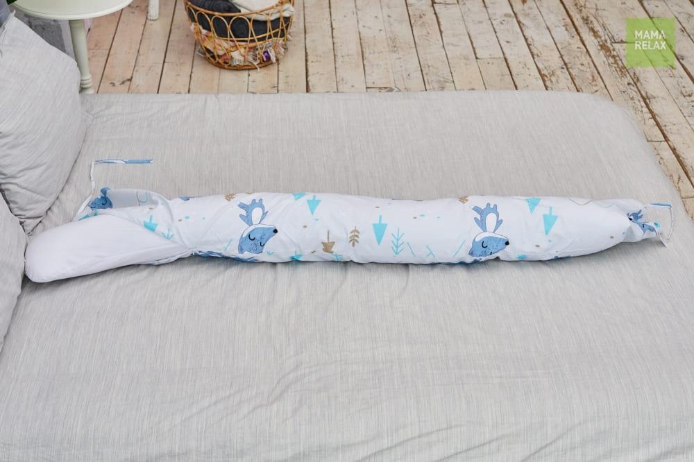 Подушка для беременных бумеранг  Лисички в лесу