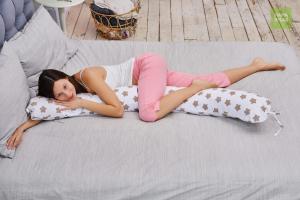 Подушка для беременных бумеранг Прянички кофе