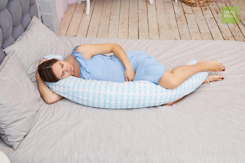 Подушка для беременных бумеранг Елочки