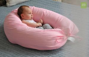 Подушка для беременных бумеранг Розовая