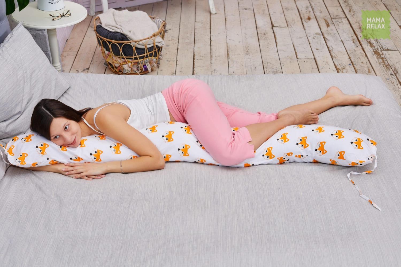 Подушка для беременных бумеранг Лисички