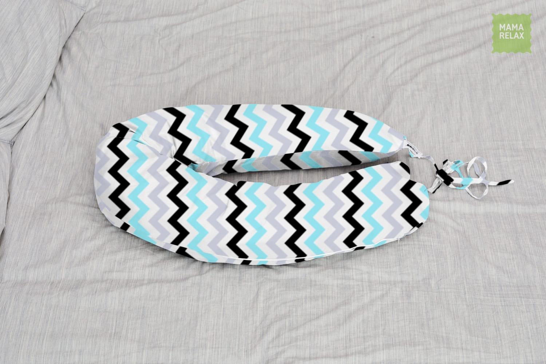 Подушка для беременных бумеранг Зигзаги нежные