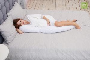 Подушка для беременных бумеранг белый