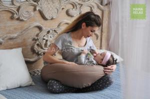 Подушка для беременных бумеранг Мокко