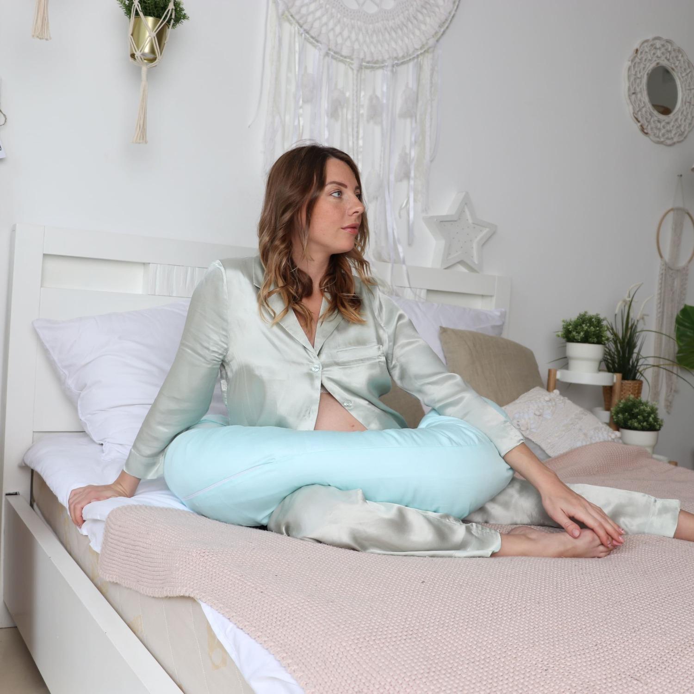 Подушка для беременных бумеранг сатин Тиффани