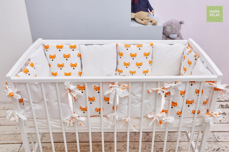 Детские бортики в кроватку - Лисички