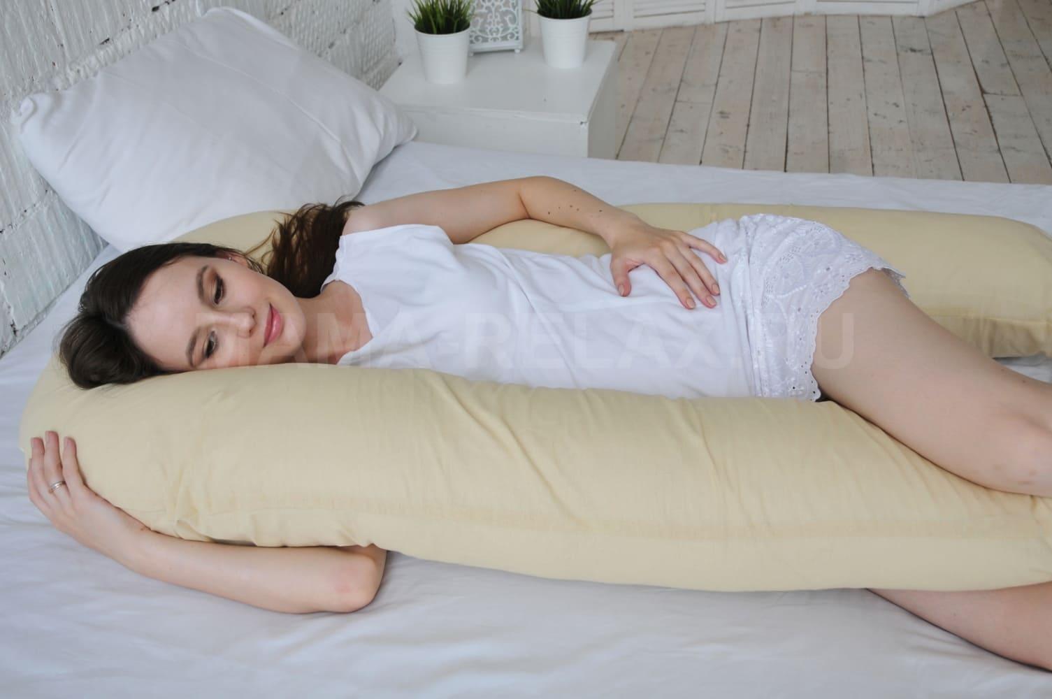 Подушка  для беременных U340 Кремовый беж
