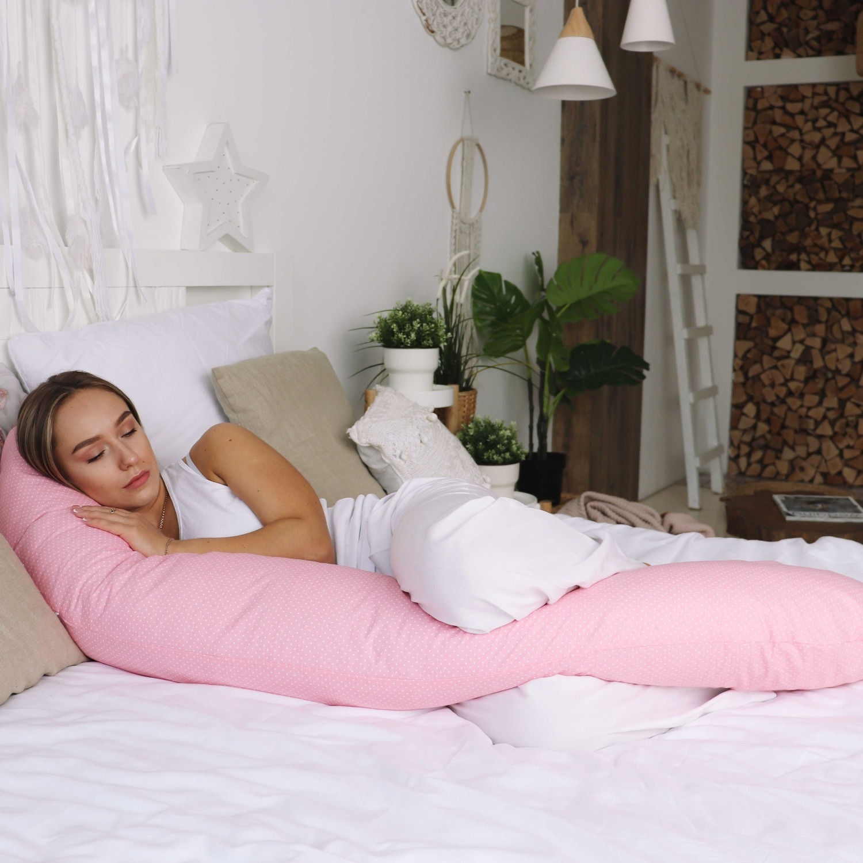 Mama Relax Наволочка I170 Белый горошек на розовом