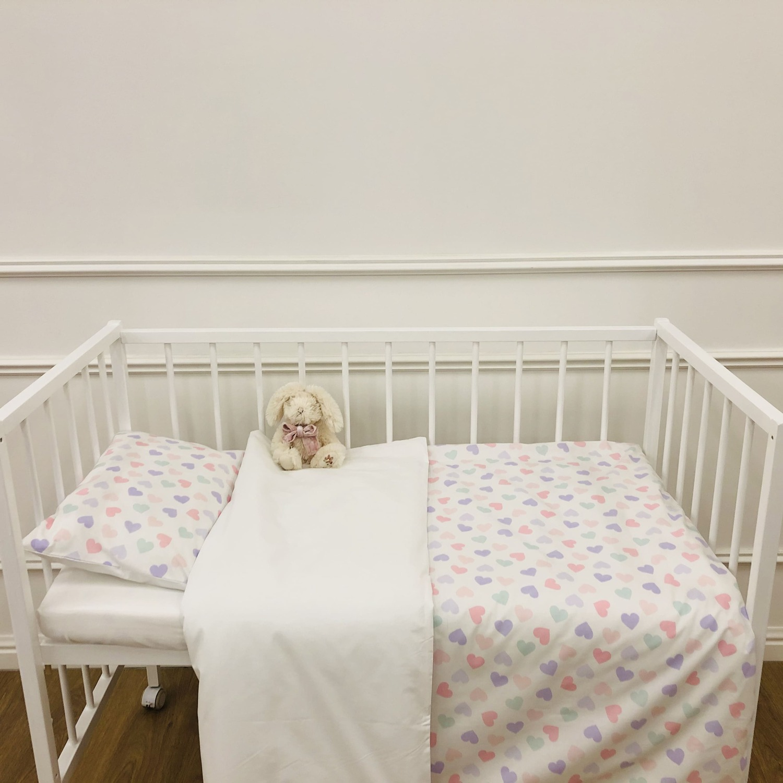 детское постельное белье сердечки