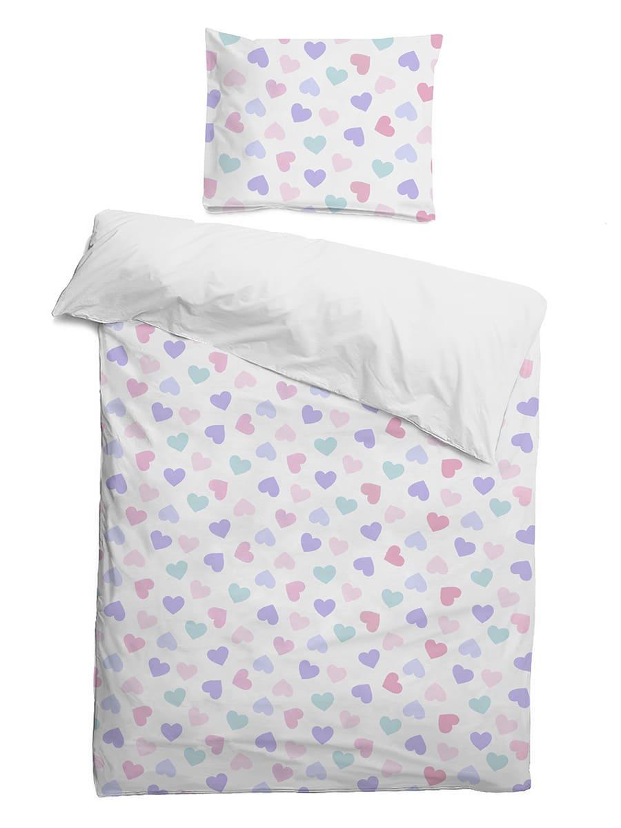 Детское постельное бельё 120х60 Сердечки