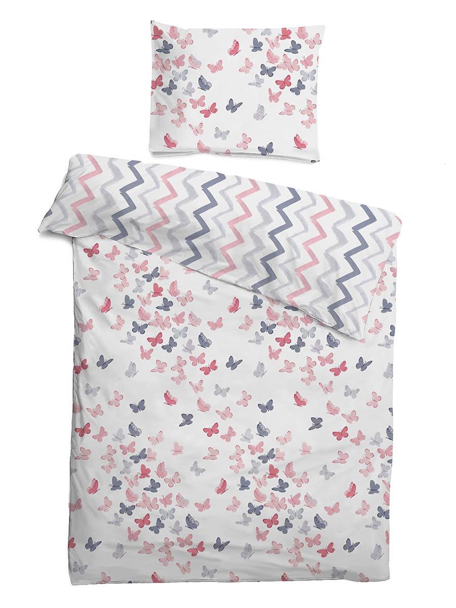 Детское постельное бельё 120х60 Бабочки