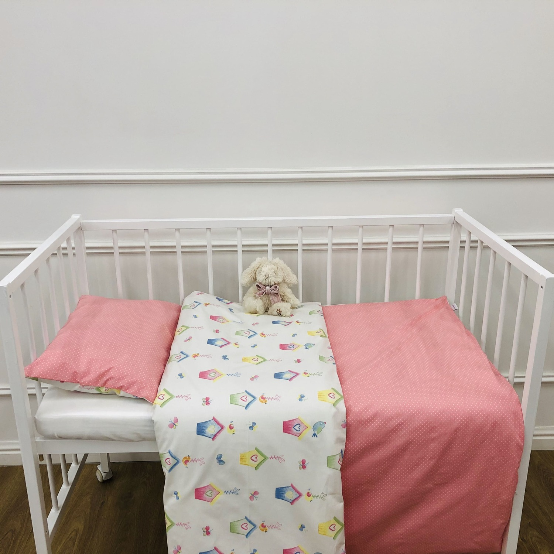 Комплект детского постельного белья домики