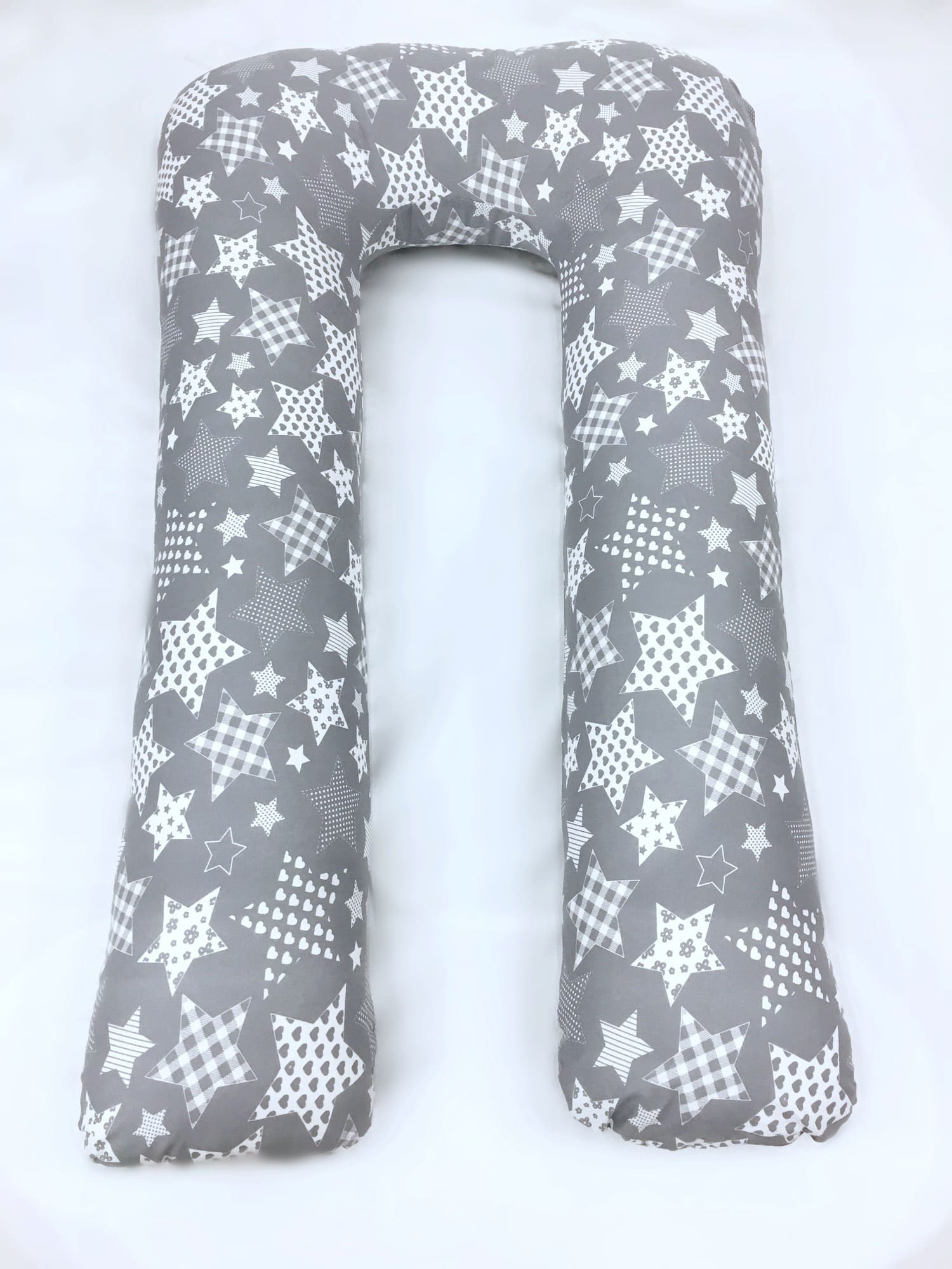 Подушка для беременных U XXL Нежные звезды серые