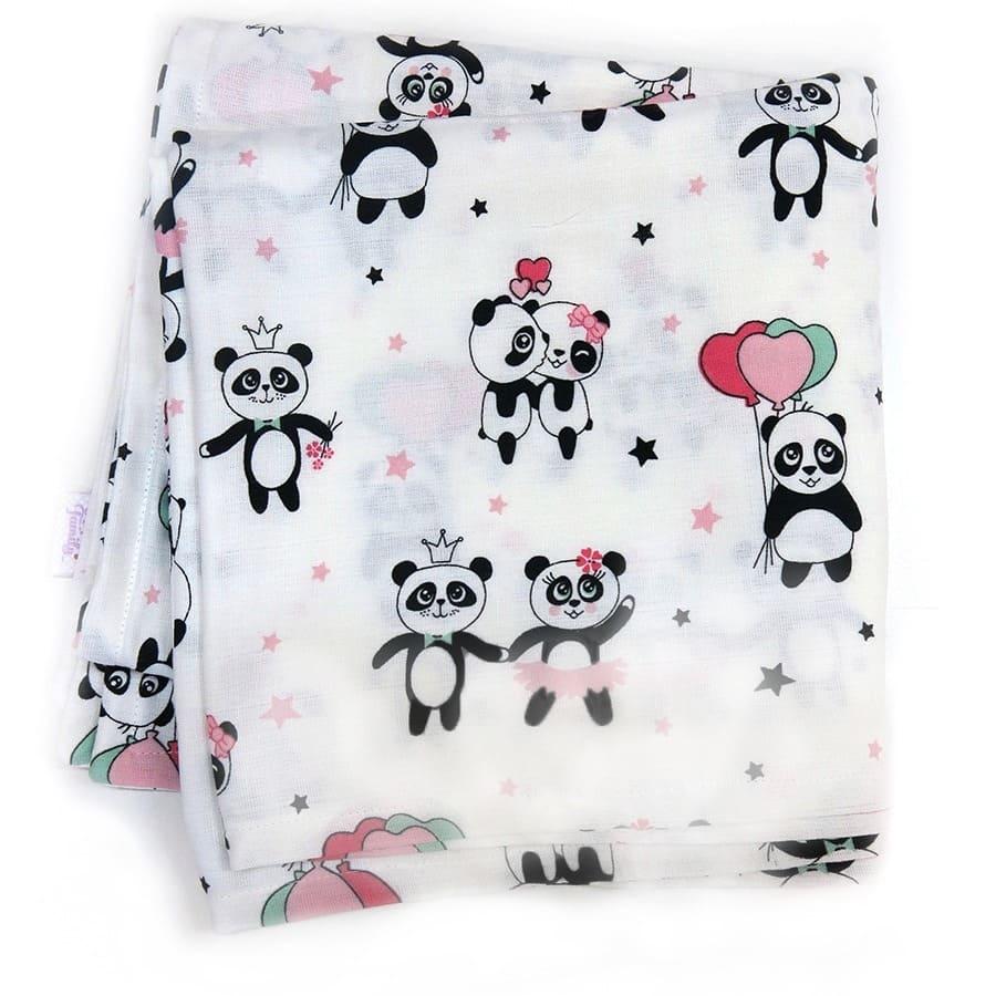 Муслиновые ппеленки - Панды