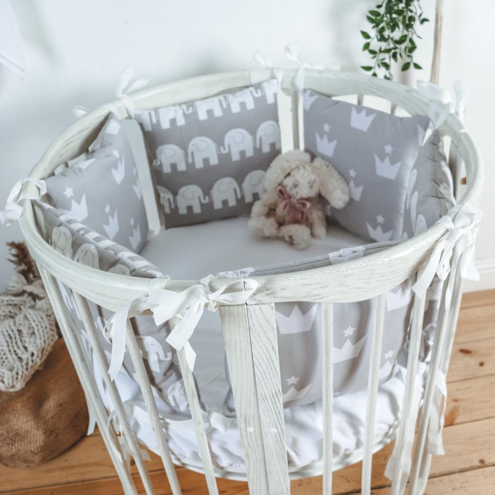 Детские бортики в кроватку 12шт - MIX№4