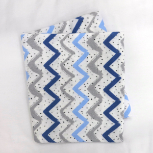Фланелевая простыня 100х120 Синие зигзаги