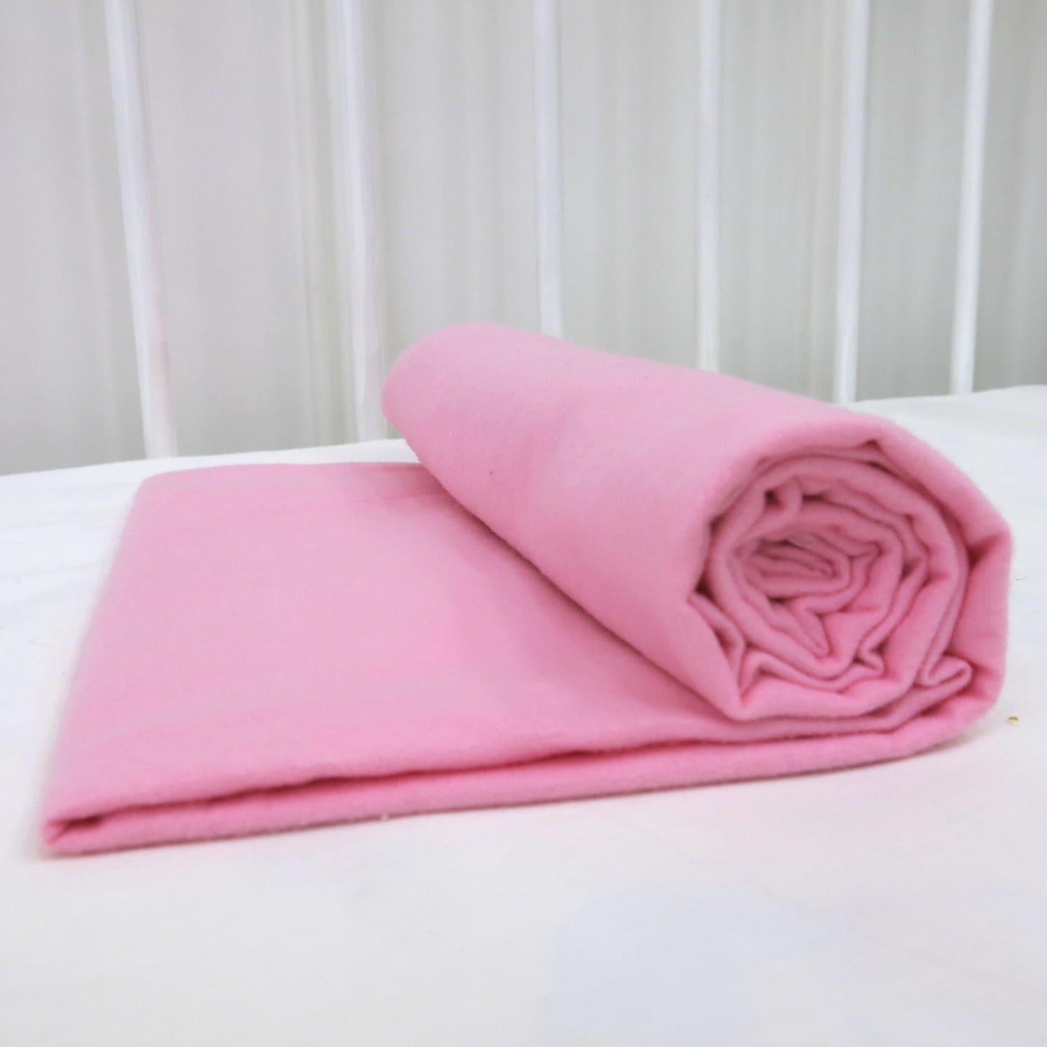 Фланелевая простыня 100х120 Розовая