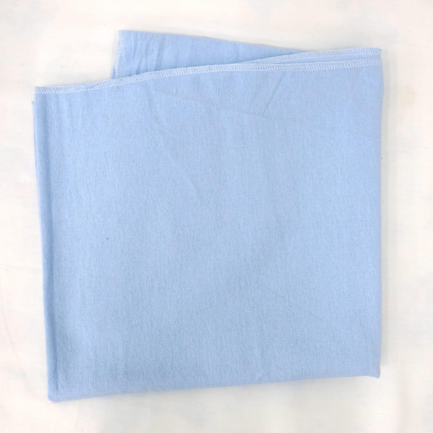 Фланелевая простыня 100х120 Голубая