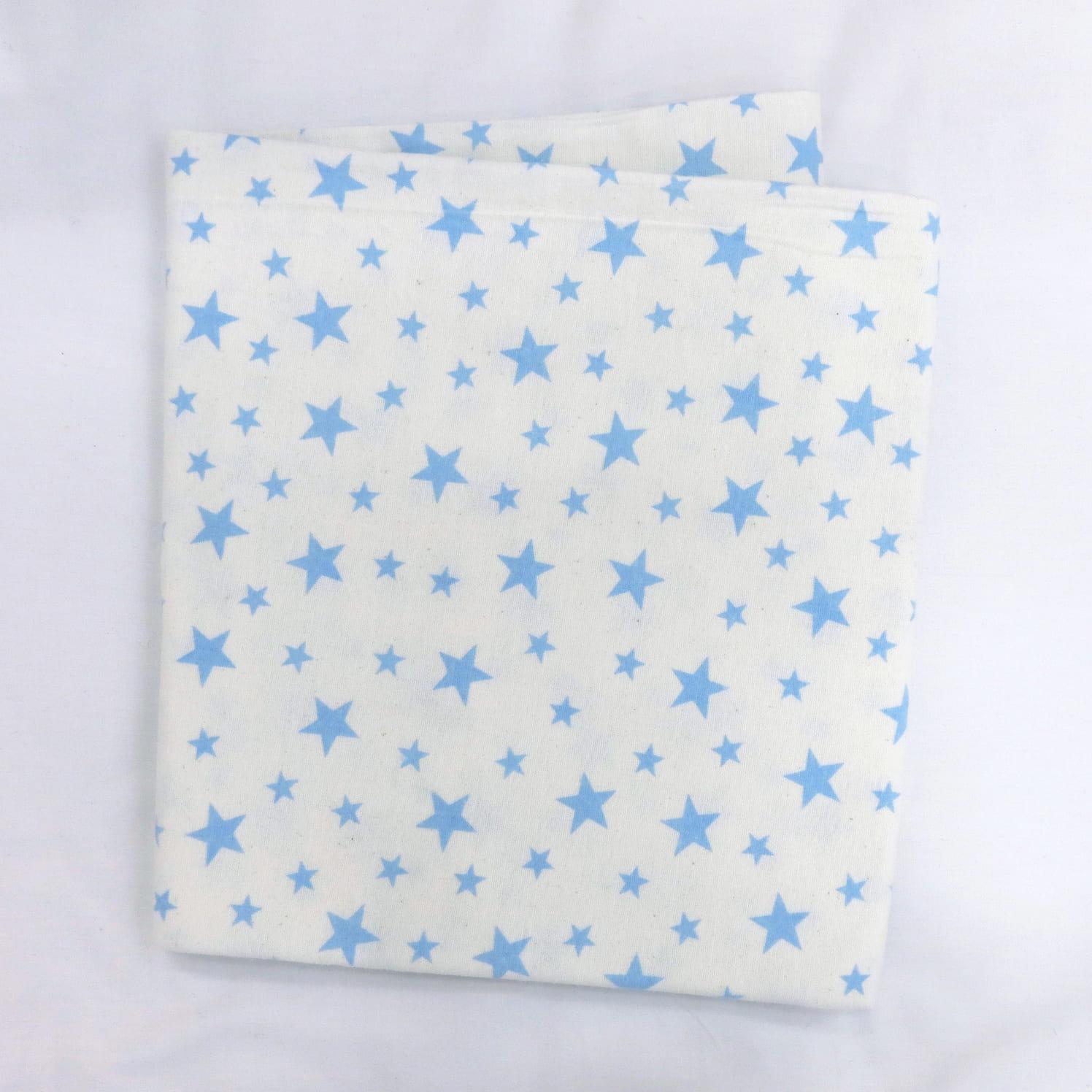 Фланелевая простыня 100х120 Синяя звездочка